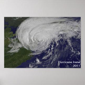 Poster 2011 de Irene del huracán