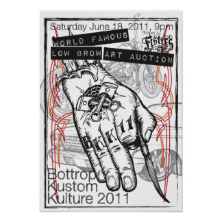 Poster 2011 de la subasta del arte de Bottrop