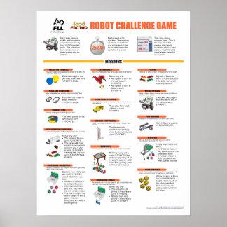 Poster 2011 de las misiones del juego del robot de