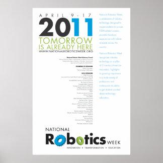 Poster 2011 de RoboWeek 24x36