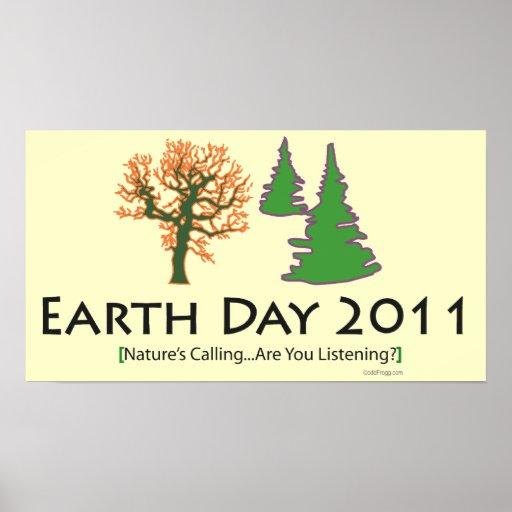 poster 2011 del Día de la Tierra del oddFrogg