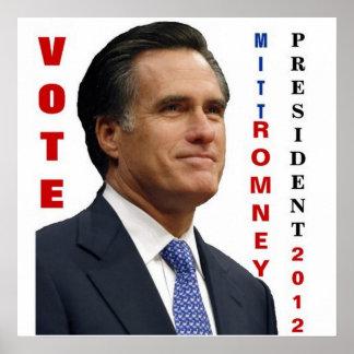 Poster 2012 de Mitt Romney del voto