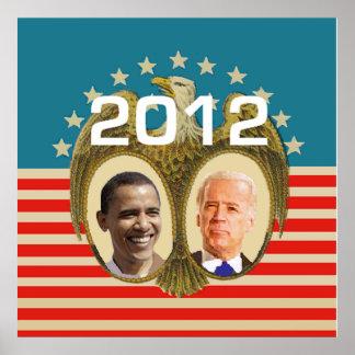 Poster 2012 de Obama Biden Póster