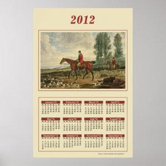 Poster 2012 del calendario del Huntsman