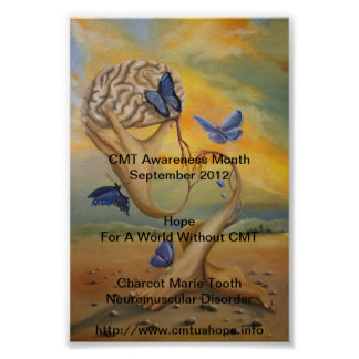 Poster 2012 del mes de la conciencia de CMT con pa