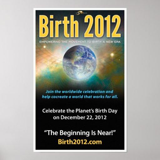 Poster 2012 - impresión llena del nacimiento