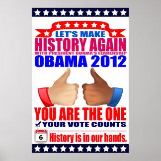 Poster: 2012 Obama -  Let's Make History Again Poster