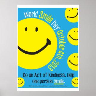Poster 2013 del día de la sonrisa del mundo 20x28