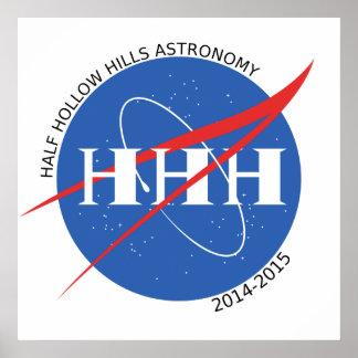 Poster 2014-15 del logotipo de la astronomía de