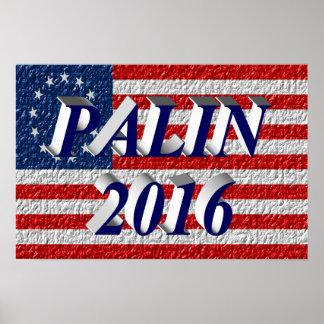 Poster 2016, 3D azul de PALIN, Betsy Ross