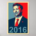 Poster 2016 del estilo de Paul Obama del rand
