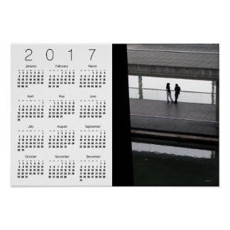 Poster 2017 del calendario de París W de la ciudad