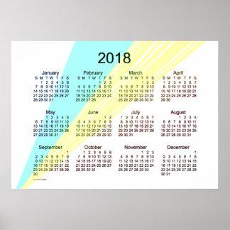 Poster 2018 del calendario del arte