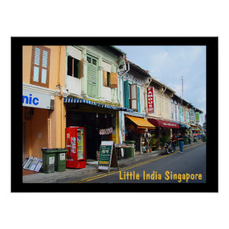 """Poster (24"""" x 18"""")  Little India Singapore"""