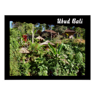 "Poster (24"" x 18"" ) Ubud View Bali"