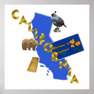 """Poster 24x24 de California """""""