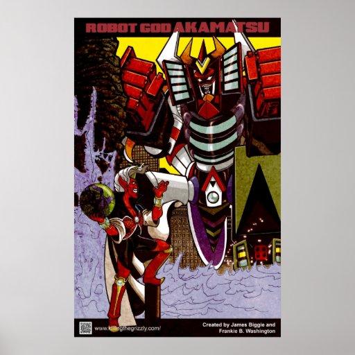 Poster 2 de Akamatsu de dios del robot