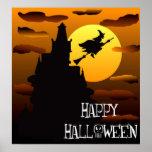 Poster 2 de la casa encantada del feliz Halloween