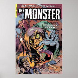 Poster 2 de la cubierta de cómic del monstruo