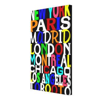 Poster 2 de los puntos calientes de la moda lona estirada galerías