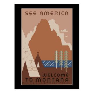Poster 2 de WPA Montana del vintage Postal