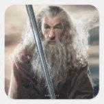 Poster 2 del carácter de Gandalf Pegatina Cuadradas Personalizada