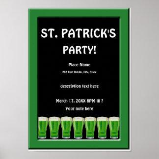 Poster 2 del fiesta de St Patrick verde de la