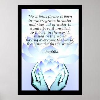 Poster 2 del rosa de la cita de la flor de Lotus B Póster
