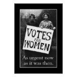 Poster 2 del voto de la vintage mujer