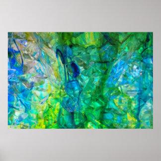 Poster 36x24 de los cristales 2 del océano