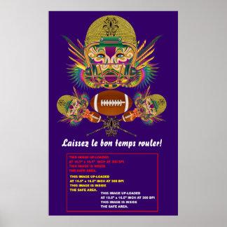 """Poster 38"""" del carnaval x 60"""" notas de la opinión"""