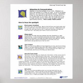 Poster 3 de Brainology®: Atención y concentración