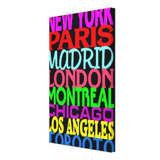 Poster 3 de los puntos calientes de la moda lona estirada galerias