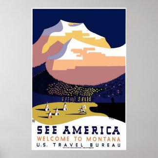 Poster 3 de WPA Montana del vintage