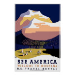 """Poster 3"" de WPA Montana del vintage Póster"