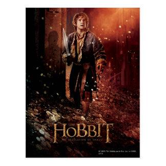 Poster 3 del carácter de Bilbo Tarjeta Postal