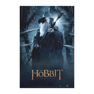 Poster 3 del carácter de Gandalf Impresión En Lienzo Estirada