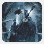 Poster 3 del carácter de Gandalf Calcomania Cuadrada Personalizada