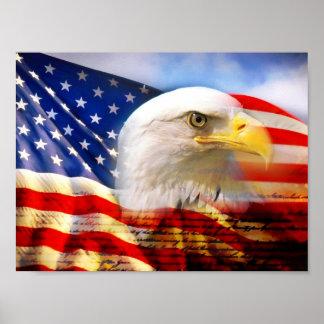 Poster 4 de la bandera americana