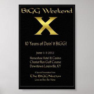 """Poster 4"""" del fin de semana X de la cebada bigg x6"""