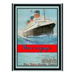 Poster 58 del viaje del vintage postal