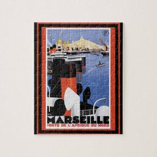 Poster 60 del viaje del vintage puzzle