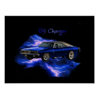 Poster:  '69 Dodge Charger
