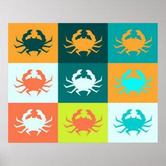 Poster 6 del cangrejo del arte pop