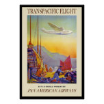 Poster 8 del viaje del vintage