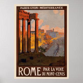Poster 8 el 1/2 x 11 de Roma del vintage
