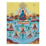 POSTER 8 Medicine Buddhas - starting from $14.25