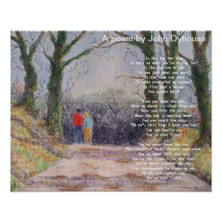 Poster: A poem by John Dyhouse
