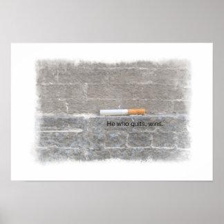 Poster abandonado de la ayuda que fuma - él que ab