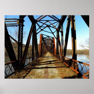 Poster abandonado del puente del RR
